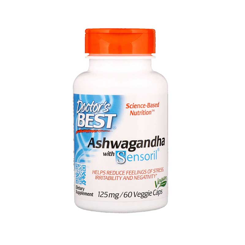 Doctor's Best Ashwagandha With Sensoril 125mg, 60 vcaps