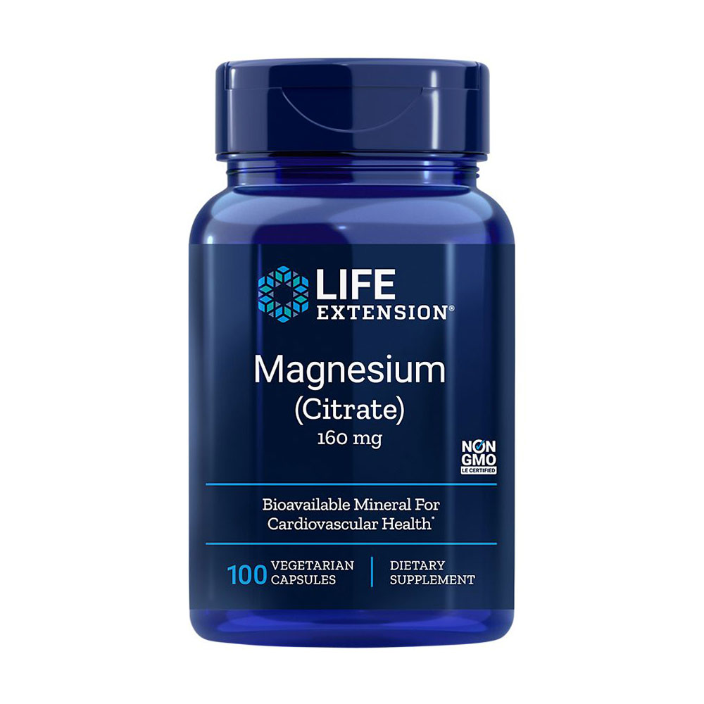 Life Extension Magnesium Citrate 160 mg 100 vcaps