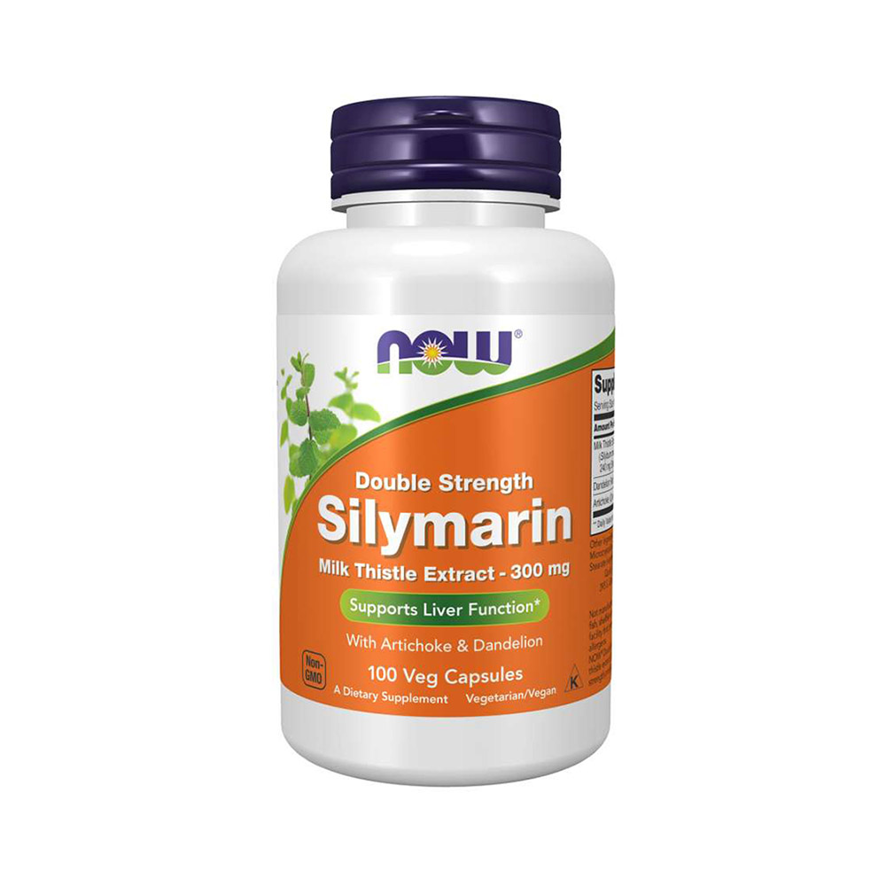 NOW Silymarin Milk Thistle with Artichoke & Dandelion 300 mg 100 VCAPS   Liver Support