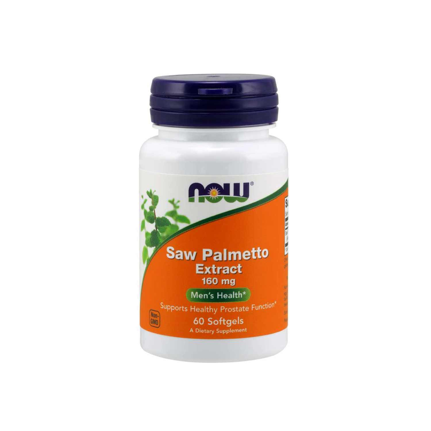 NOW Saw Palmetto Extract 160 mg, 60 Softgels