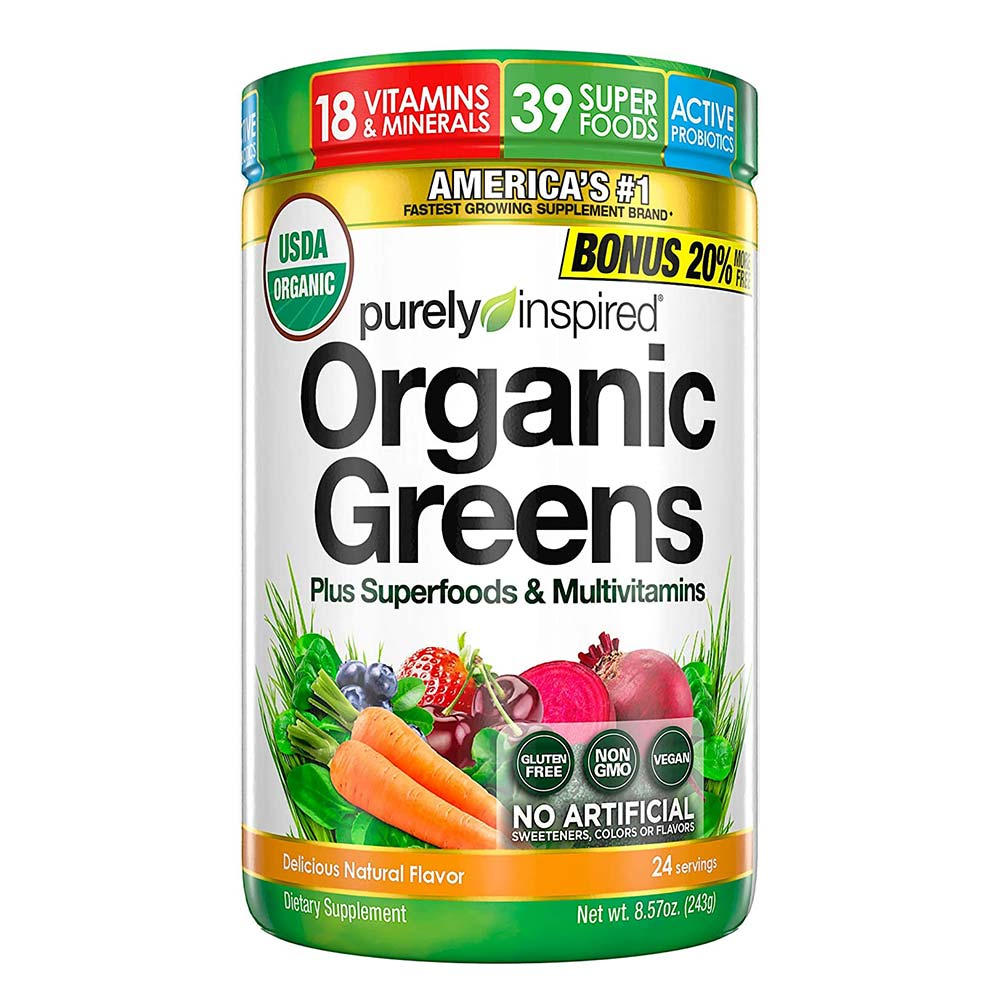 Purely Inspired Organic Greens Plus Superfood & Multivitamins